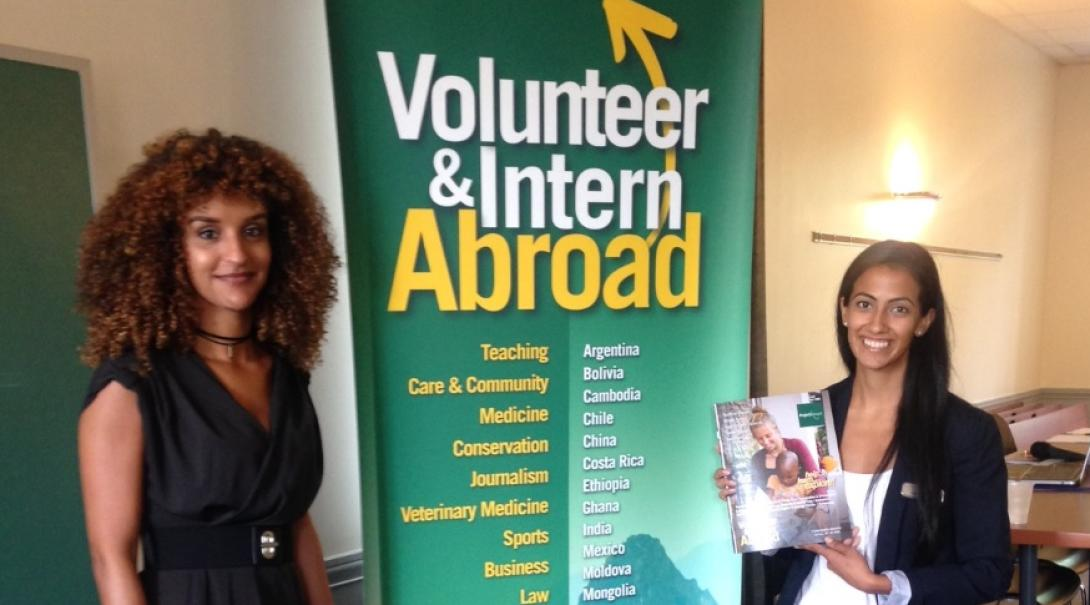 Projects Abroad staff at an information event